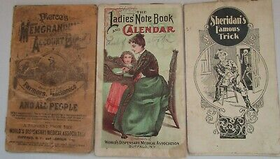 1898 Pierce's Note Books Lot of 3  Fair to Very Good Condition  Buffalo, NY