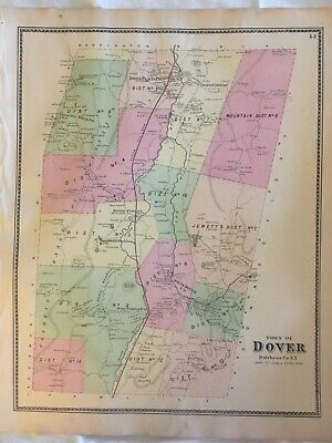 Town of Dover, Dutchess County, NY 1867 Lithograph by F.W. Beers