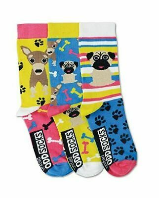 United Oddsocks - Girls Pug Socks-Size 12-5.5 - Girls Socks - Great Gift Idea