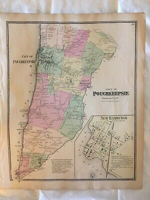 Town of Poughkeepsie, Dutchess County, NY 1867 Lithograph, F. W. Beers