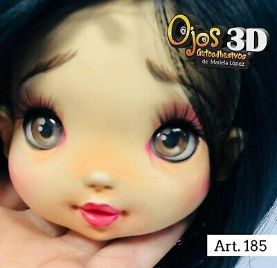 Eyes Stickers 3D-Ojos Autoadhesivos Mariela Lopez,Porcelain,Foam # 160-Up-3D