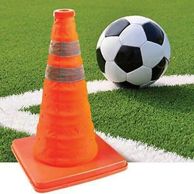"18"" Pop Up Collapsible Portable Safety Cone Football Traffic Posts Driving"