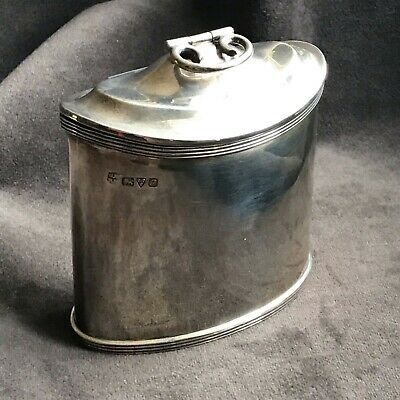 Antique GeorgeV sterling silver tea caddy/box with Chester 1915 Hallmarks