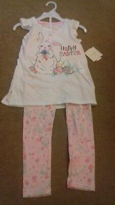 BRAND NEW - GIRLS OUTFIT - 5-6 YRS  - DESIGNER - EASTER THEME - box @