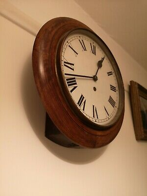 Large Antique Wall School / Station Clock