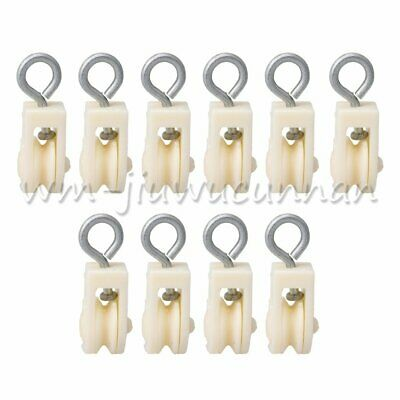 10pcs Plastic Pulley Wheel Block Swivel Snatch for Hanging Poultry Farms