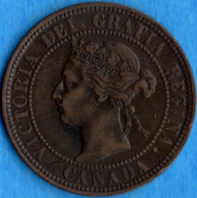 Canada 1898 H 1 Cent One Large Cent Coin - Nice Fine