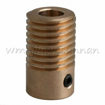0.5 Modulus Yellow Brass Worm Gear Shaft for Driving 6mm Hole Diameter