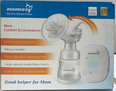 Momcozy Electric Breast Pump Portable Single Memory Function LED Touchable