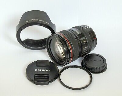 Canon EF 24-105mm F/4l IS USM Autofocus Lens for Canon EOS SLR w/filter & hood