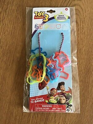 Toy Story 3. 100% Silicone 12 Bandz And Necklace Organizer