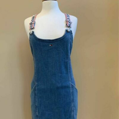 official site purchase cheap speical offer TOMMY HILFIGER WOMENS Denim Pinafore Dress Blue Scoop Neck ...