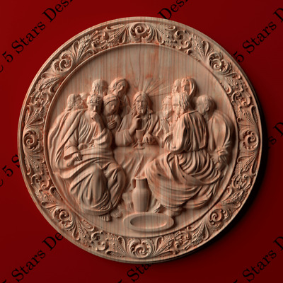 The Last Supper carved in wood