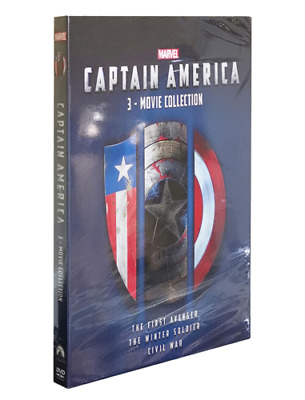 Captain America 1, 2 & 3 (Dvd) 3-Movie Collection Trilogy Box Set *New*