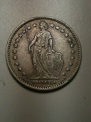 1875 Switzerland 1 franc in VF to EF condition