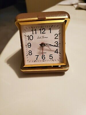 Beautiful Vintage Seth Thomas Travel Alarm Clock Wind Up