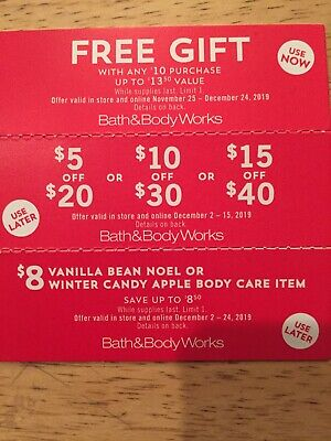 Bath And Body Works COUPONS!!!