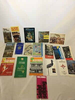 Foreign Maps Ephemera Guides Lot Etc. France Canada Italy London Israel Spain +