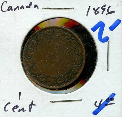 1896 Canada Large Cent Canadian Coin FN460