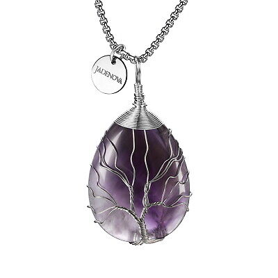 Healing Crystal Tree of Family Pendant Wire Wrapped Jewelry for women Necklace