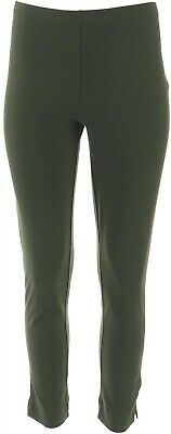 Women with Control Petite Slim Leg Ankle Pants Olive PS NEW A306481