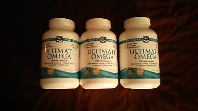 3 New Nordic Naturals Ultimate Omega Fish Oil 180 count bottles, 540 gels total