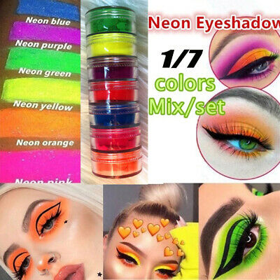 Neon Loose Powder Eyeshadow Pigment Matte Make Up Shimmer Shining Eye Shadow A