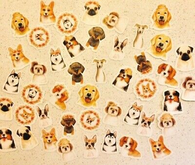 45PC CUTE PUPPY DOG PUG ETC STICKERS Party Favour Gift Loot bag.MELBOURNE SELLER
