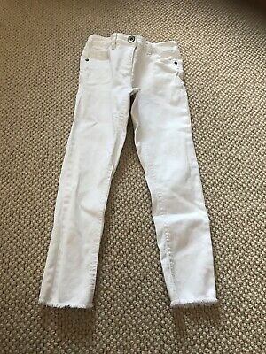Next Gorgeous Girls White Skinny Jeans Excellent Condition Age 8 Years