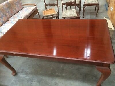 Original Australian Solid Cedar Dining Table & 6 Matching Dining Chairs