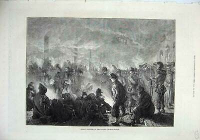 Old Antique Print Fine Art 1871 French Prisoners Orleans Railway Station 19th