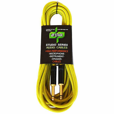 10ft 3m Guitar Cable Braided Instrument Lead Studio Series GC105B-3