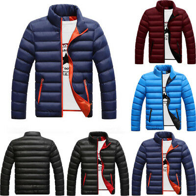 Mens Warm Lightweight Down Jacket Quilted Padded Puffer Coat Outwear Overcoat