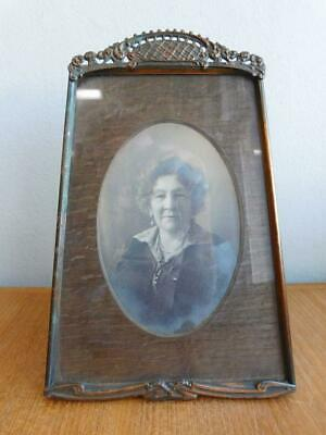 Beautiful Edwardian  Art Deco Pressed Copper Picture Photo Frame 1900s.