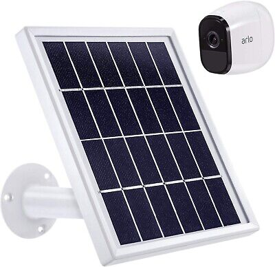 Solar Panel Only Compatible w Arlo Pro to provide Continuous Power Waterproof