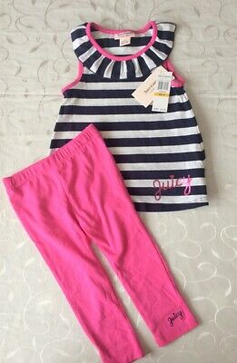 Juicy Couture  Girl's   Sleeveless Top & Leggings 2 Piece Set (3Years)