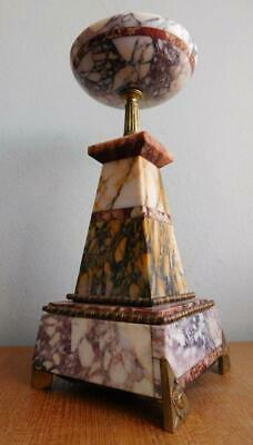 Gorgeous Polished Coloured Marble Egyptian Themed Centrepiece Comport Deco 1900s