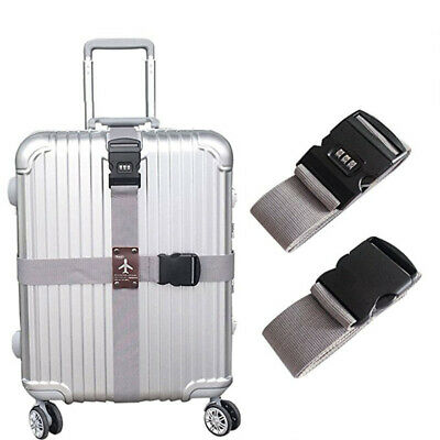 Adjustable Suitcase Cross Luggage Strap With Safe Lock Baggage Durable Sydney