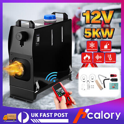 Hcalory 5KW 12V All in One Diesel Air Heater Smart Remote For Lorrys Motorhome