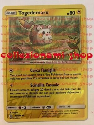 POKEMON TOGEDEMARU 74//236 COMUNE REVERSE HOLO ECLISSI COSMICA THE REAL/_DEAL SHOP