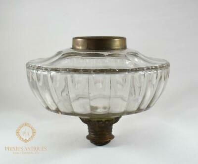 Antique Victorian Clear Cut Glass Replacement Oil Lamp Font
