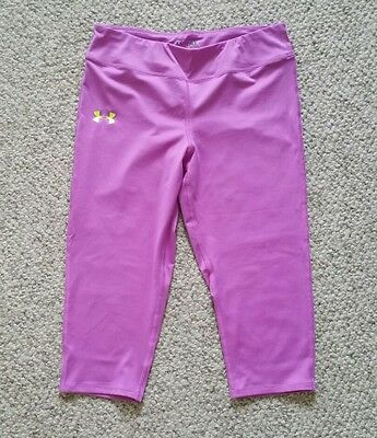 Under Armour Youth Girls X Large All Season Fitted Capri Leggings Pinkish Purple