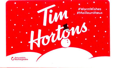 2x----Tim Hortons Canada Christmas 2018 Snowman, FD63320 rechargeable
