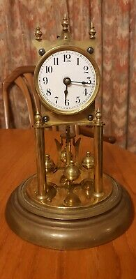 Antique clock glass dome  Grande Kieninger &Obergfell