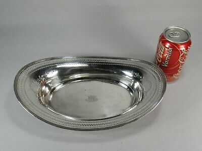 Large Tiffany & Company Makers Sterling Silver Pierced Bread Basket Bowl 383g