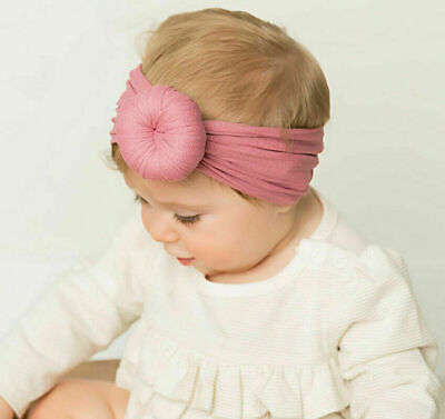 Baby Girls Kids Toddler Bow Knot Hairband Headband Turban Head Wrap Hot Str T0X9