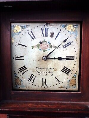 Whitmore & Son Northampton antique oak mahogany cased grandfather longcase clock