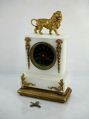 Antique Rare Striking Clock Benson with AD MOUGIN Moviment Mantel Collectable