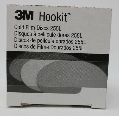 "3M HOOKIT 3"" Coated Aluminium Oxide Hook Loop Disc p120 FINE box of 50 255L"