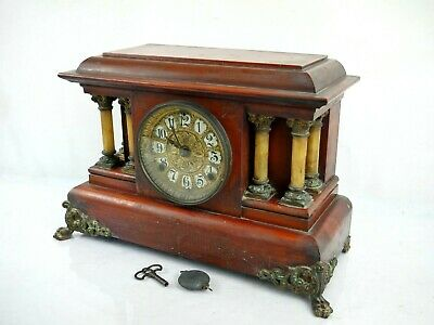 Rare Antique Seth Thomas Clock USA Mantel Clock 1880 Collectable Old Gong
